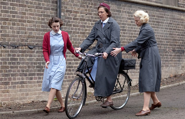 Jessica Raine as Jenny Lee, Miranda Hart as Chummy Noakes and Helen George as...