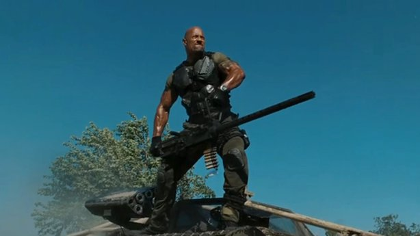 "Dwayne Johnson stars as Roadblock in ""G.I. Joe: Retaliation."""