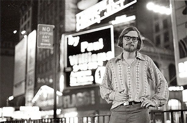 Paul Williams in Times Square (via Boo-Hooray)