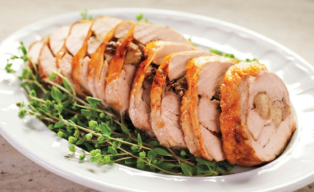 Stuffed turkey breast. In this episode, Martha Stewarts shares tips to achiev...