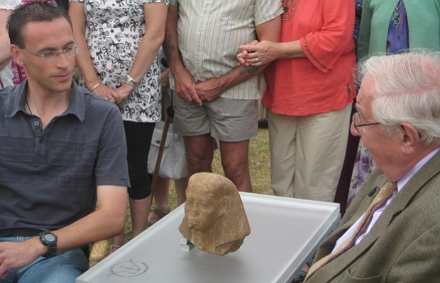 Henry Sandon discovers an Egyptian head, one of the oldest items seen on the ...