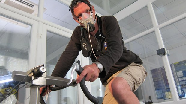 Dr. Michael Mosley pushing his exercise capacity to the extreme in an altitud...