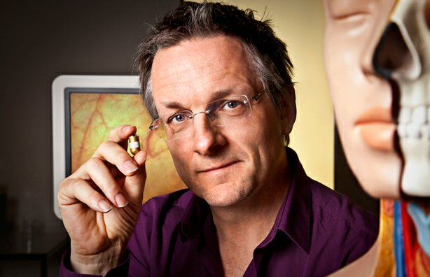 "British journalist and physician Michael Mosley. Using the latest in medical imagery and a tiny state-of-the-art ""camera pill"" he swallows at the start of the film, Mosley takes viewers on a remarkable journey, revealing his innards as they digest his food."