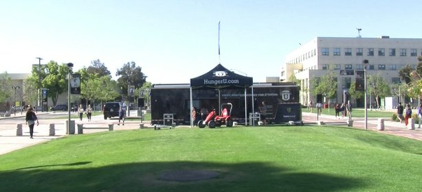 The HungerU mobile exhibit stopped by San Diego State University to raise awa...