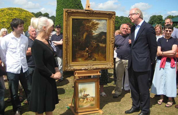 Mark Poltimore examines a possible Constable painting.