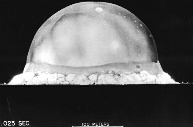 The first test of an atomic bomb, code name Trinity. Conducted by the United ...