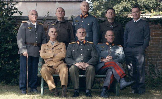 "Re-enactment: The generals cast from ""Bugging Hitler's Soldiers."""