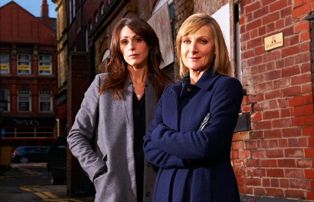 Suranne Jones as DC Rachel Bailey and Lesley Sharp as DC Janet Scott in seaso...