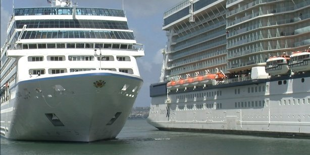 San Diego had the rare occurrence of three cruise ships in port all at once o...