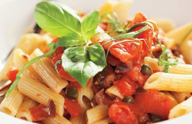 Pasta with sauce. Homemade pasta sauces far outshine store-bought jars. In th...