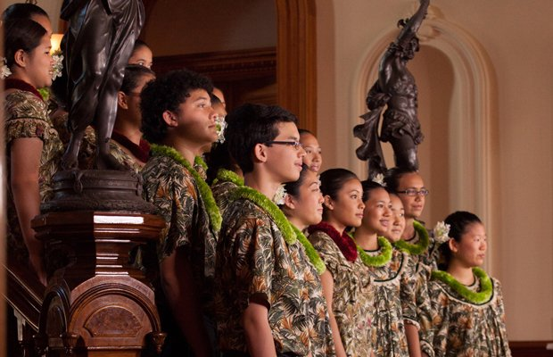 The Hawaii Youth Opera Chorus directed by Nola Nahulu. In