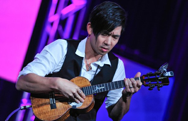 Jake Shimabukuro performs at the PBS Television Critics Association Winter Press Tour in Pasadena, Calif. on Tuesday, January 15, 2013.