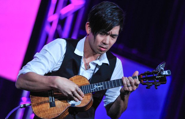 Jake Shimabukuro performs at the PBS Television Critics Association Winter Pr...