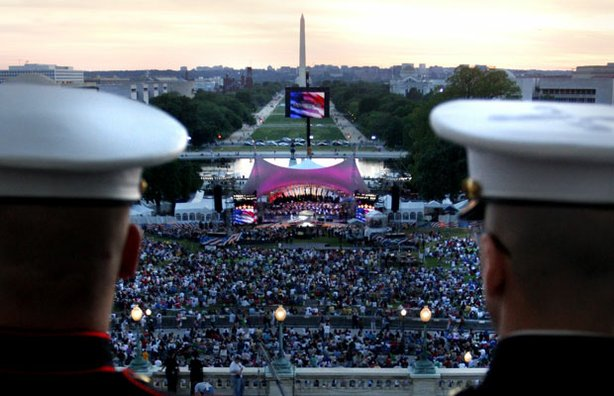 "Soldiers attend the ""National Memorial Day Concert."""