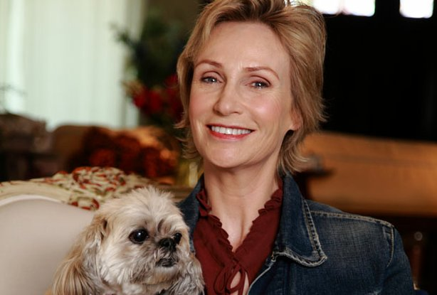 "Actress Jane Lynch (Glee) and her shelter dog, Olivia, host the upcoming show, SHELTER ME ""Let's Go Home.""  SHELTER ME is an inspiring series that celebrates shelter pets with positive and uplifting stories."
