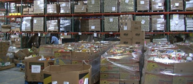 The San Diego Food Bank distributed nearly 18 million pounds of food in fiscal year 2011-2012.