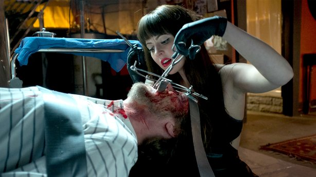 "Katherine Isabelle stars as the title character in ""American Mary."""