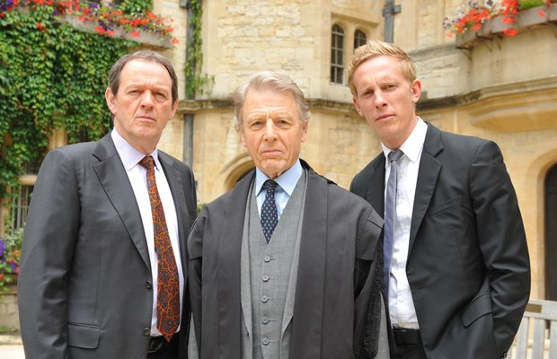 Left to Right: Kevin Whately as Inspector Lewis, Edward Fox as Dr. Yardley, a...