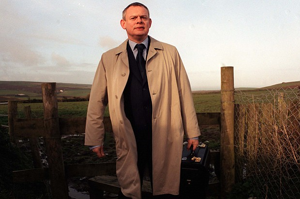 Martin Clunes stars as Martin Ellingham in the television series DOC MARTIN.