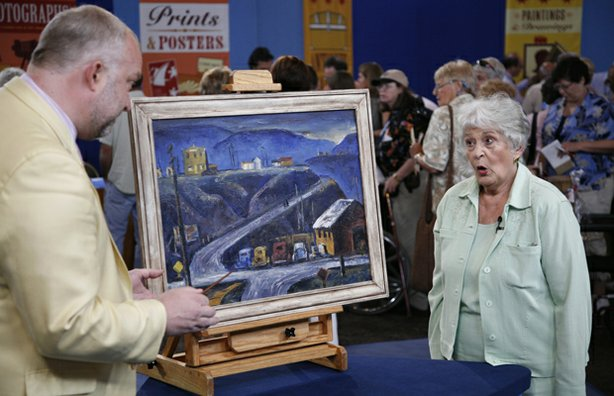 At ANTIQUES ROADSHOW in Palm Springs, California, a guest learns a 1937 paint...