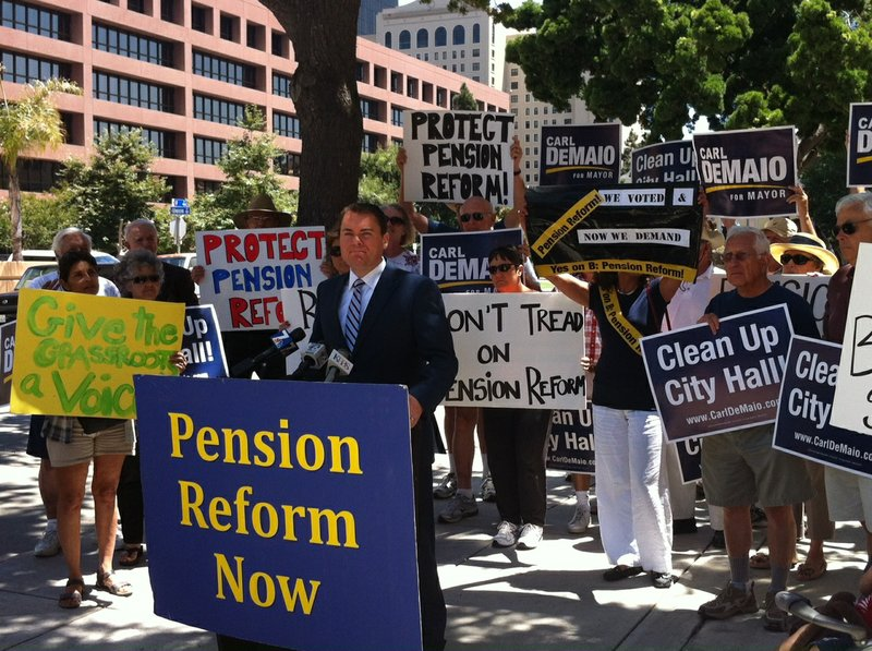 City Councilman Carl DeMaio calls for implementation of Proposition B on July...
