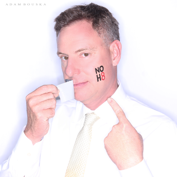 Rep. Scott Peters (D-San Diego) posed for the NOH8 campaign.