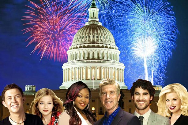 "The all-star cast for ""A Capitol Fourth"" includes (l-r) Scotty McCreery; Jack..."