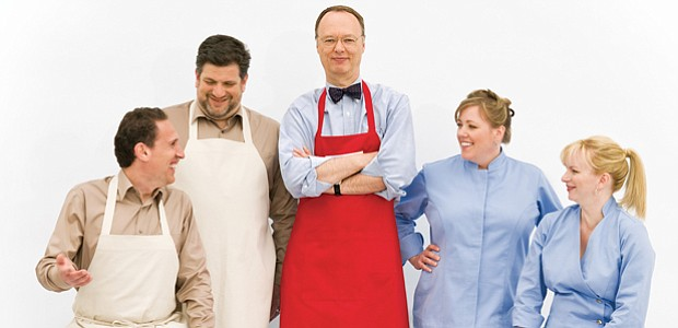 Christopher Kimball and the cast of AMERICA'S TEST KITCHEN FROM COOK'S ILLUST...