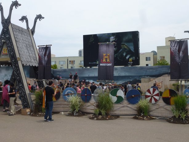 "Expanding the footprint of Comic-Con with events nearby like this History Channel ""Viking"" experience that was open to the public and badge holders alike."