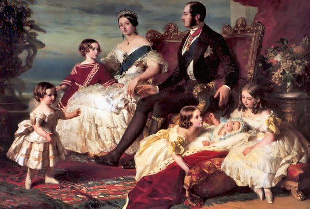 """Family of Queen Victoria"" 1846, oil on canvas, by Franz Xaver Winterhalter."