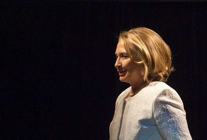 Former Secretary of State Hillary Clinton at the Kennedy Center, April 2, 2013.