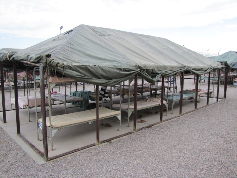 Temperatures on the bunks can reach up to the 130s in the Phoenix summer.