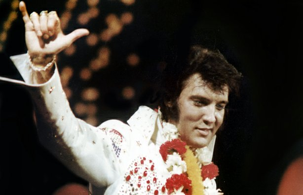 Elvis Presley (pictured) made television history in 1973 with a live concert ...