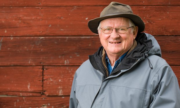 Author and historian Jerry Apps, pictured on his farm in 2012, tells the stor...