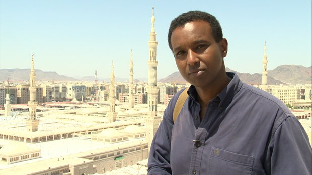 Journalist and author Rageh Omaar in Medina, Saudi Arabia.
