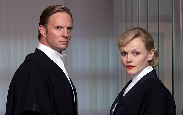 Rupert Penry-Jones as Clive Reader and Maxine Peak as Martha Costello. A mode...