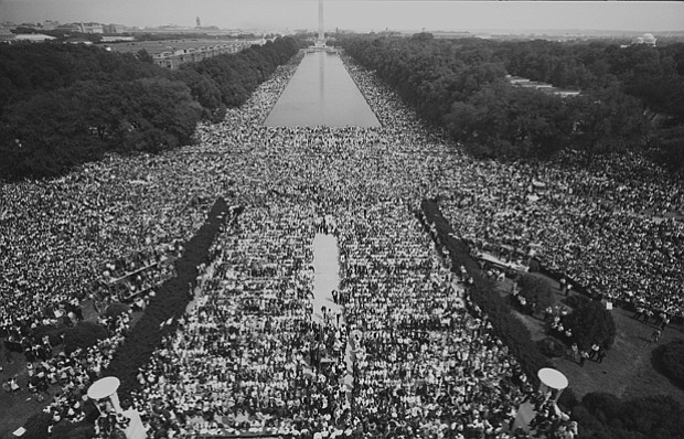 Mall crowds, The March on Washington, 1963
