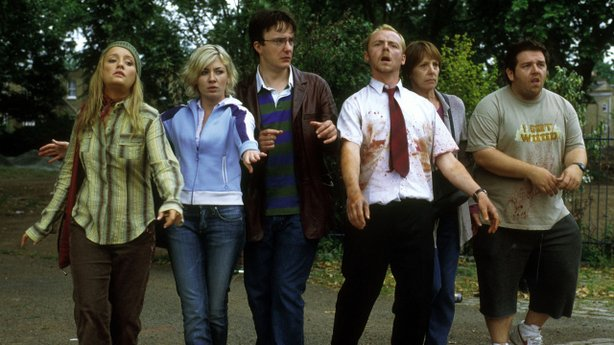 "Pretending to be dead in ""Shaun of the Dead."""