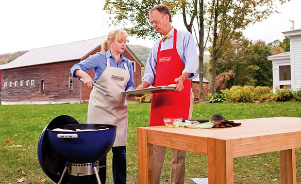 Test cook Bridget Lancaster and host Chris Kimball are grilling in season fou...