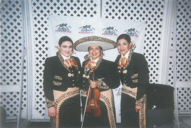 Leonor Perez (center) at a performance of Mariachi Mujer 2000 at the Hollywood Bowl last year.