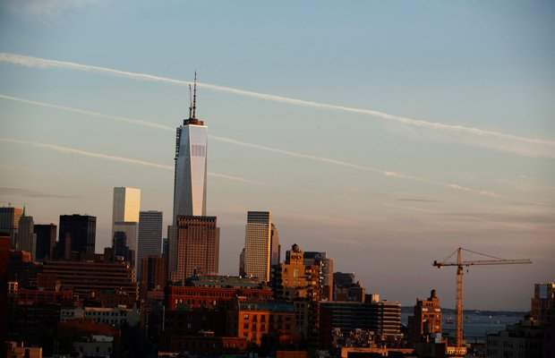 The One World Trade Center skyline.