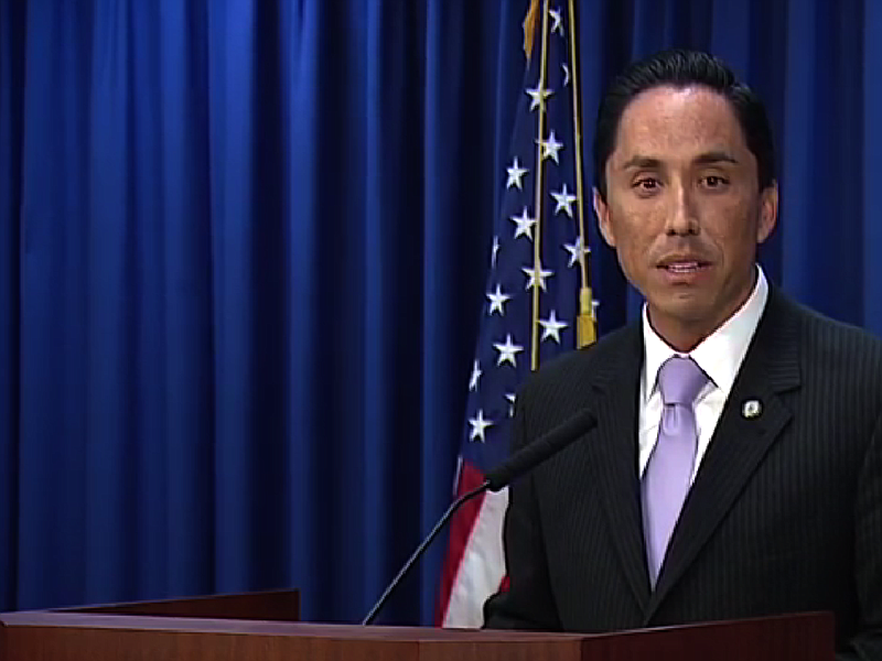 Interim Mayor Todd Gloria gives his first weekly media briefing.
