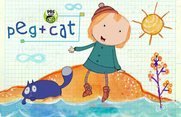 Promotional image for PEG + CAT, a new preschool animated math series, debuti...