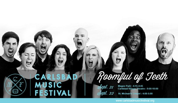 Vocal ensemble Roomful of Teeth performs at this year's Carlsbad Music Festival.