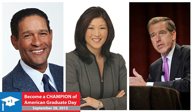 Bryant Gumbel, JuJu Chang and Brian Williams will be among the broadcasters a...