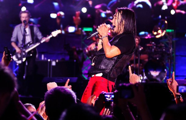 "Arnel Pineda performs with Journey in Manila, in the film ""Don't Stop Believi..."