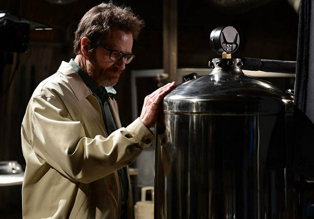 "Bryan Cranston says good-bye as Walter White in the series finale of ""Breaking Bad."""