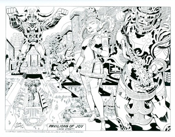 "Jack Kirby's art work for Barry Ira Geller's script that ended up being used as cover for the CIA rescue of Iranian hostages. Geller has a panel at this year's Comic Fest to tell the real story behind ""Argo."""