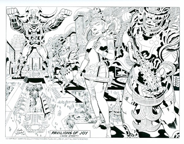 Jack Kirby's art work for Barry Ira Geller's script that ended up being used ...