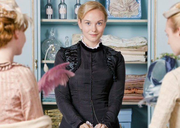 Joanna Vanderham as Denise. A Victorian-era department store is the setting f...